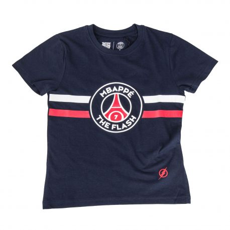 tee shirt mbappe team flash 8 14 ans enfant psg prix. Black Bedroom Furniture Sets. Home Design Ideas