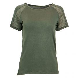 Tee shirt uni détail plumetis manches courtes Femme BEST MOUNTAIN