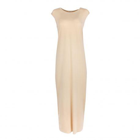 Robe longue beige Femme AMERICAN VINTAGE marque pas cher prix dégriffés destockage