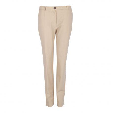 Pantalon droit beige Femme AMERICAN VINTAGE marque pas cher prix dégriffés destockage