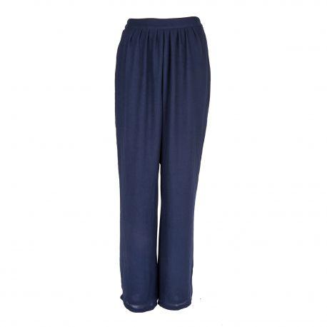 Pantalon large fluide bleu foncé Femme AMERICAN VINTAGE marque pas cher prix dégriffés destockage