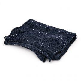 Écharpe bleu marine à sequins moyen modèle Femme GUESS