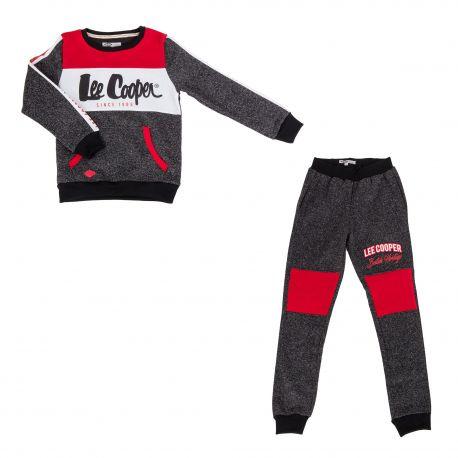Ens jogging lc01002 4-12ans garcon Garçon LEE COOPER marque pas cher prix dégriffés destockage