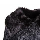 Manteau noir col fausse fourrure Femme GUESS marque pas cher prix dégriffés destockage