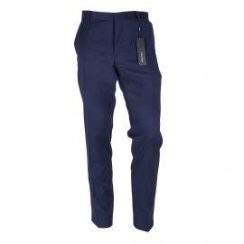 Pantalon de costume bleu foncé Homme CALVIN KLEIN marque pas cher prix dégriffés destockage