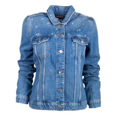 Veste en jean Femme TOMMY HILFIGER marque pas cher prix dégriffés destockage