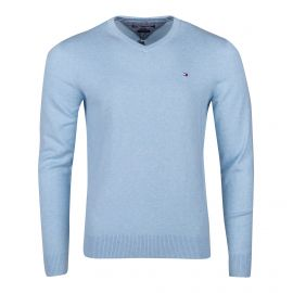 Pull manches longues coton/cachemire Homme TOMMY HILFIGER