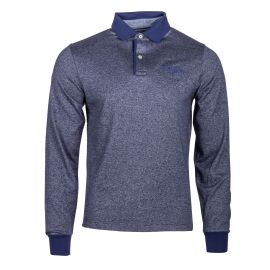 Polo bleu manches longues Homme TOMMY HILFIGER