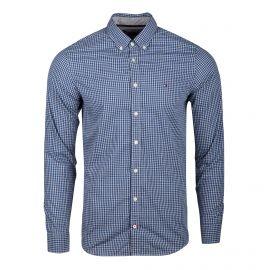 Chemise bleu à carreaux manches longues Homme TOMMY HILFIGER