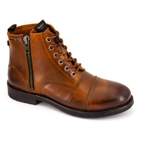 Chaussures Boots cuir pms50163 Homme PEPE JEANS marque pas cher prix dégriffés destockage