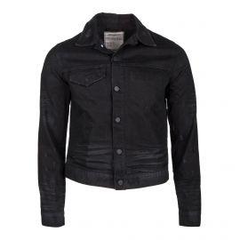 Veste en jean noire Homme ZADIG & VOLTAIRE marque pas cher prix dégriffés destockage