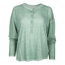 Tee-shirt en lin vert manches longues Femme ZADIG & VOLTAIRE