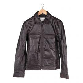 Blouson en cuir marron Homme ZADIG & VOLTAIRE marque pas cher prix dégriffés destockage
