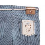 Pantalon rayé cordon ceinture Femme MADEMOISELLE GARÇONNE marque pas cher prix dégriffés destockage