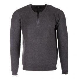 Pull col zip maglia 04  anthracite - viscose  Homme TORRENTE