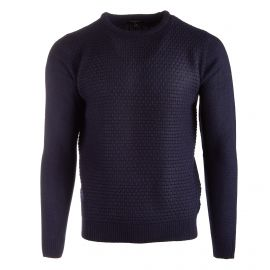 Pull col rond navy 58602 Homme TORRENTE