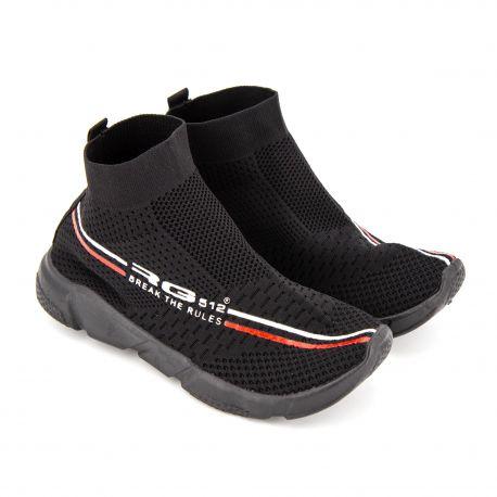 Baskets chaussettes mesh noires s61s12b Homme RG512 marque pas cher prix dégriffés destockage