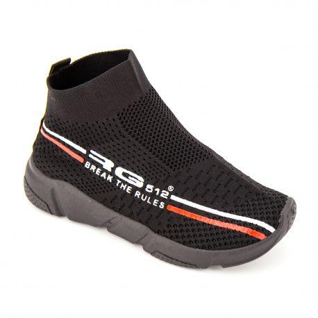 Baskets chaussettes mesh noires s61s12b Enfant RG512 marque pas cher prix dégriffés destockage