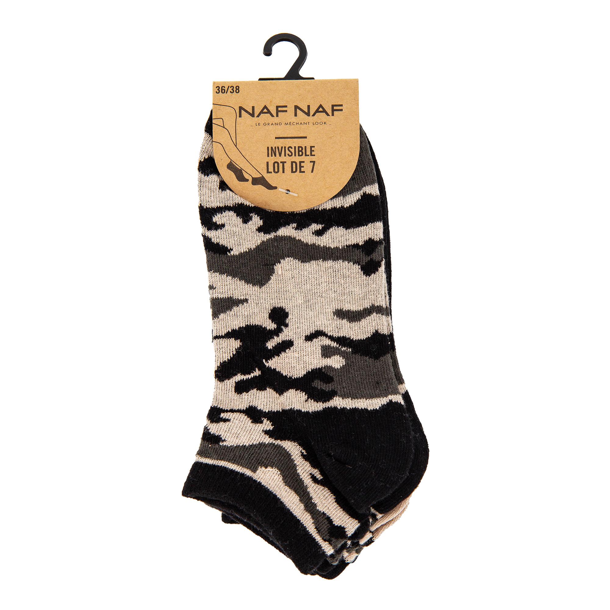 Pack de 7 paires de socquettes femme NAF NAF à prix dégriffé !