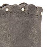 Bottines en cuir suédine grises Enfant MUSTANG marque pas cher prix dégriffés destockage