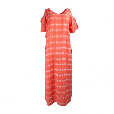 Robe longue légère Tie Dye épaules ajourées Femme PALME marque pas cher prix dégriffés destockage