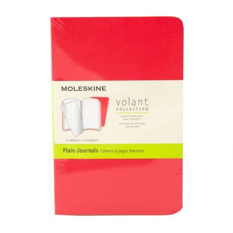 Lot de 2 cahiers lignés petit modèle 9x14 cm MOLESKINE marque pas cher prix dégriffés destockage