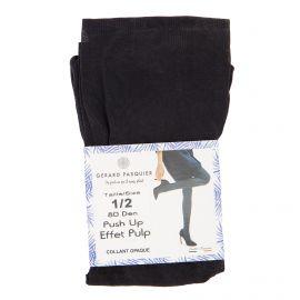 Collant opaque push noir gp7032 Femme GERARD PASQUIER marque pas cher prix dégriffés destockage