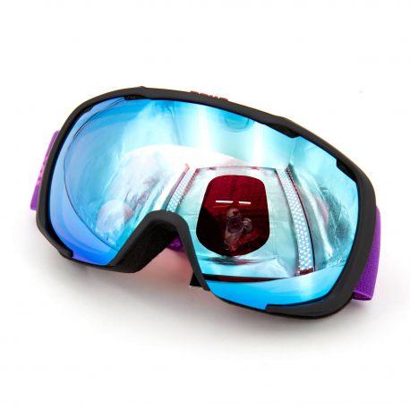 Masque ski noir/violet cat2/21594 Enfant BOLLE marque pas cher prix dégriffés destockage