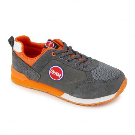 Basket gris/orange travis color y07 Enfant COLMAR marque pas cher prix dégriffés destockage