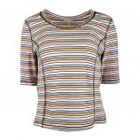 Tee shirt maille lurex couture mc Femme DDP