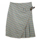 Jupe courte portefeuille plissée carreaux Femme DDP