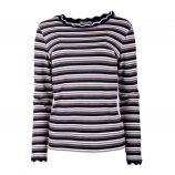 Tee shirt manches longues maille chaussette rayée lurex Femme DDP