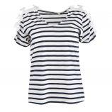 Tee shirt mc tc s18118f épaule broderies Femme BEST MOUNTAIN