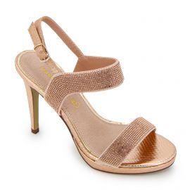Sandales a talons strass champagne acacia Femme MARIAMARE marque pas cher prix dégriffés destockage
