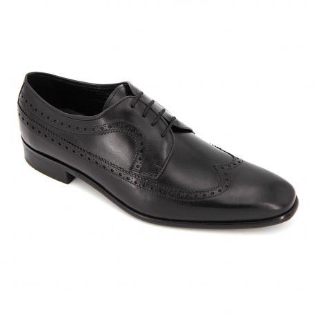 Chaussures Derbies cuir fleuri fantaisie lacets Maxim Jital Homme PIERRE CARDIN marque pas cher prix dégriffés destockage