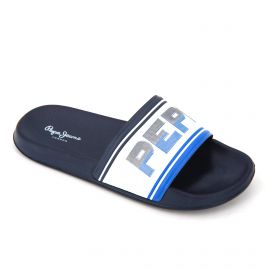 Mules white/navy pms70072539 t40/46 Homme PEPE JEANS