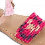 Sandales plates c11728noona brides perles Fille KAPORAL marque pas cher prix dégriffés destockage