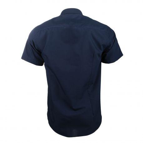 Chemise manches courtes coupe droite popeline curt Homme SINEQUANONE marque pas cher prix dégriffés destockage