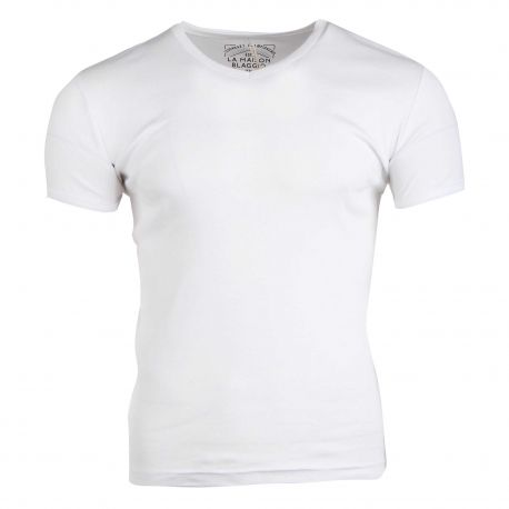 Tee shirt manche courtes land col V ajusté Homme BLAGGIO marque pas cher prix dégriffés destockage
