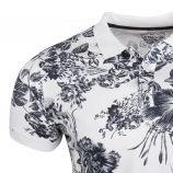 Polo manches courtes parion col contrasté boutonné imprimé hawai Homme BLAGGIO marque pas cher prix dégriffés destockage