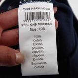 Bermuda sweat bicolore logo floqué Enfant NASA marque pas cher prix dégriffés destockage