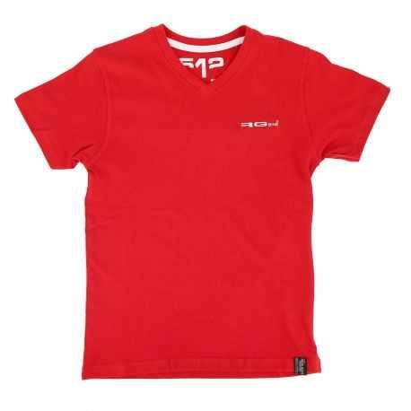 Tee shirt manches courtes col V logo brodé Enfant RG512 marque pas cher prix dégriffés destockage