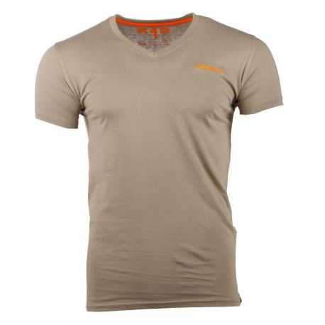 Tee shirt manches courtes col V logo brodé Homme RG512 marque pas cher prix dégriffés destockage