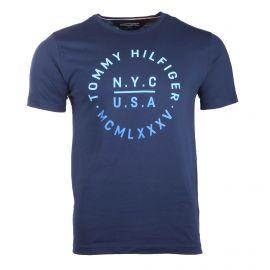 Tee shirt manches courtes floqué NYC USA Homme TOMMY HILFIGER marque pas cher prix dégriffés destockage