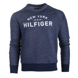 Sweat manches longues effet jean New York USA Homme TOMMY HILFIGER marque pas cher prix dégriffés destockage
