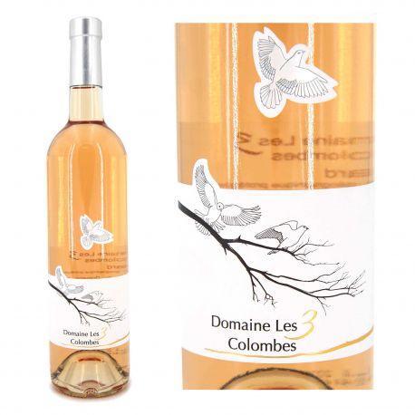 Vin rosé IGP Gard 75 CL 2020 Domaine Les 3 Colombes marque pas cher prix dégriffés destockage