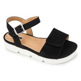 Sandales plateforme suédé semelle crantée boucle Femme MTNG marque pas cher prix dégriffés destockage