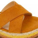Sandales plateforme suédé semelle corde boucle Femme MTNG marque pas cher prix dégriffés destockage
