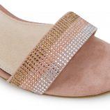 Sandales à talon suédé strass multicolore boucle Femme MTNG marque pas cher prix dégriffés destockage