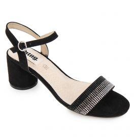 Sandales à talon suédé strass multicolore boucle Femme MUSTANG marque pas cher prix dégriffés destockage